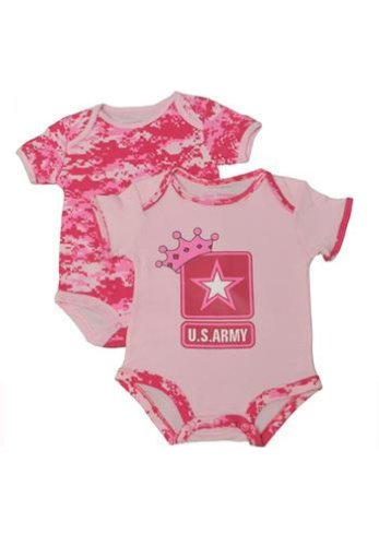 Infant Baby Army Outfit Army Princess Pink 2 Pk. Gift Set (9-12 MONTHS)