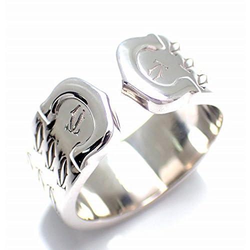 [カルティエ] Cartier 2C リング 指輪 K18WG 750WG ホワイトゴールド 2000年クリスマス限定モデル #51 [中古]