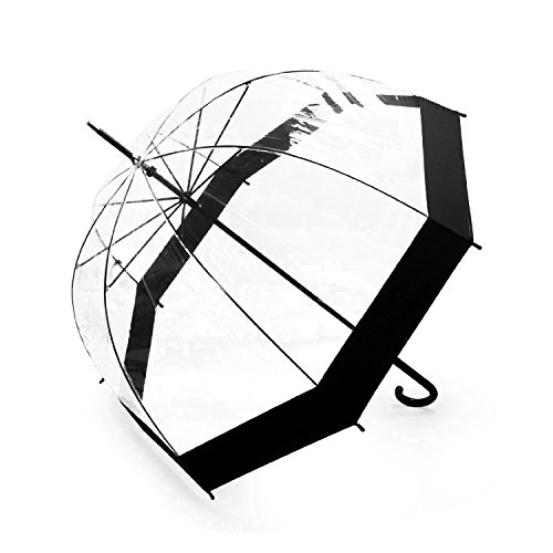 Becko Totes Light Lady's Clear & Black Elegant Bubble Golf Rain Umbrella (Family Rain Umbrella compare prices)