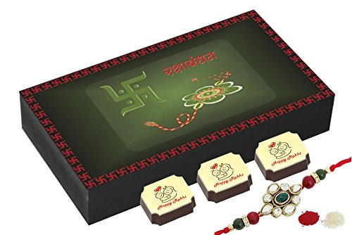 Best Chocolate Box With Rakhi - Best Gift For Sister - 6 Chocolate Box With Rakhi
