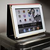 DoDocase モレスキン風iPad2ケース - チャコール IPFL211011