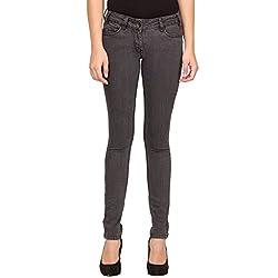 Species Women's Slim Fit Jeans (S-648_Grey Black_X-Large)