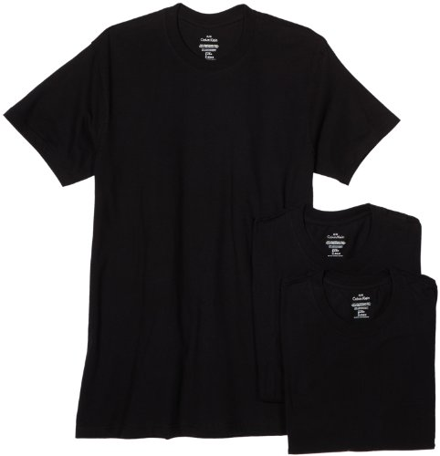 Calvin Klein Men'S 3-Pack Classic Crew Neck T-Shirt, Black, X-Large