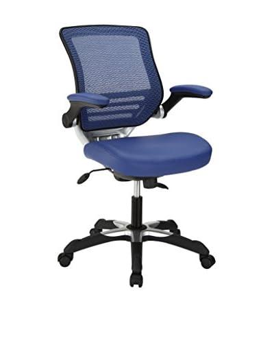 Modway Edge Vinyl Office Chair, Blue