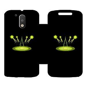 Skintice Designer Flip Cover with hi-res printed Vinyl sticker wrap-around for Motorola Moto G4 Plus