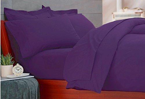 Marrikas Flannel Duvet Cover Set Twin Purple front-848934