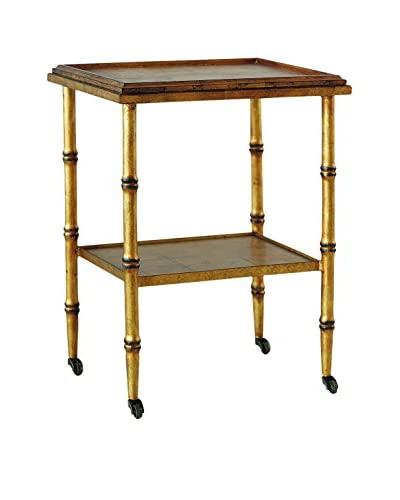 City Scape Accents Doheny Accent Table, Aged Gold