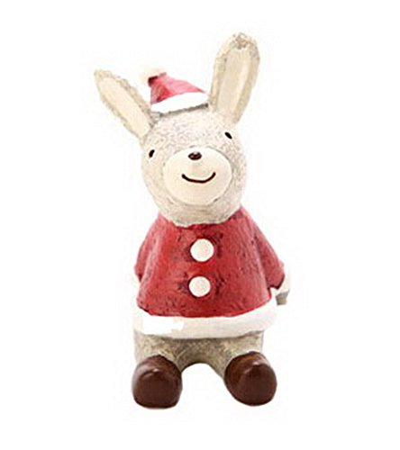Christmas Themed Animal Ornaments Resin Look Up to the Sky--Rabbit