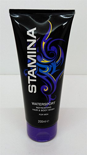 Stamina Hair & Body Wash For Men TRIPLE PACK Watersport 3x200ml