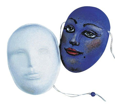 School Specialty M-145 MASK School Specialty Decorative Art Mask, Papier-Mache, 8
