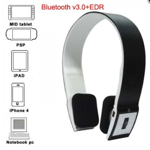 Bluetooth Stereo Headset with Microphone - Supports Smartphone and Tablet EXP Bluetooth Headsets autotags B00CY9T85I