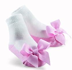 Mud Pie Princess Megan Pastel Pink Sock, Pink, 0-12 Months