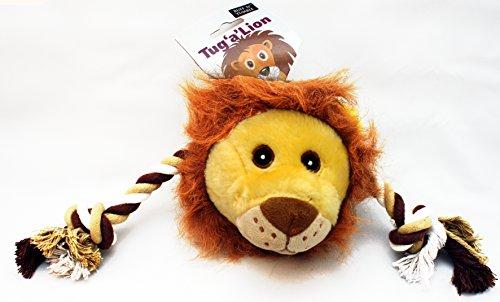 タグァ・ライオン - 一緒に遊ぼう! 犬のおもちゃ 引っ張りっこ系 - 引っ張るおもちゃ かむおもちゃ 鳴くおもちゃ 歯の健康