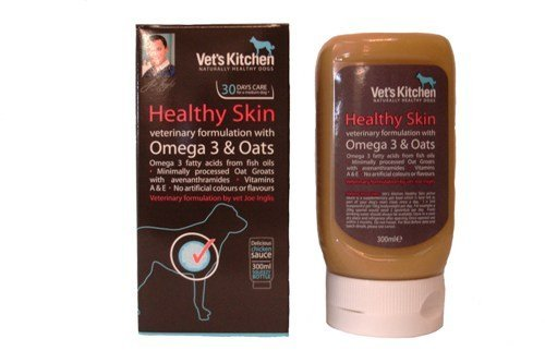 Vet'S Kitchen - Healthy Skin Veterinary Formulation With Omega 3 & Oats - 300Ml Squeezy Bottle