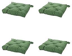 Thasaba Ikea\'s Malinda Chair Cushion, Green, 4 Count