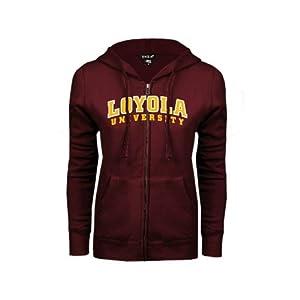 Loyola (IL) Ladies Maroon Fleece Full Zip Hoodie