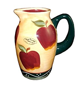 Water Pitcher Country Apple Decor Kitchen