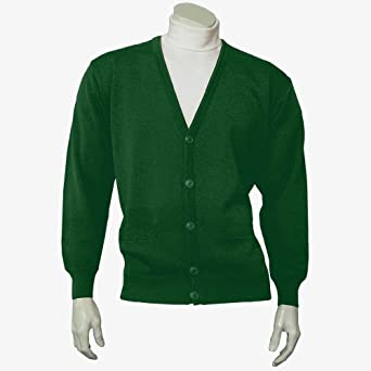 "Classic Men's Cardigan - Green (Sizes: Small to 4XLarge) (3XLarge (50"" - 52"" Chest))"