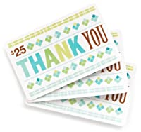 Amazon.com $25 Gift Cards, Pack of 3 (Thank You Card Design)