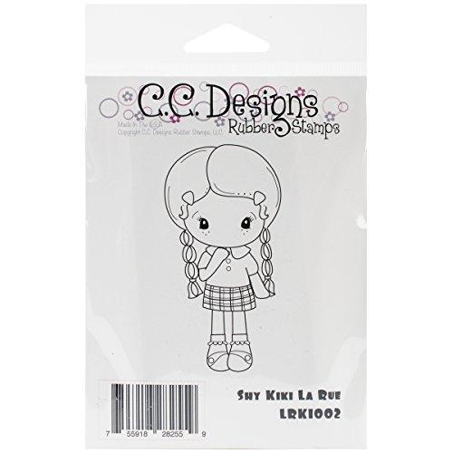 C.C. Designs La Rue Cling Stamp, 3.75 By 2-Inch, Shy Kiki
