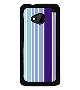 Multicolour Lines Pattern 2D Hard Polycarbonate Designer Back Case Cover for HTC One :: HTC One M7