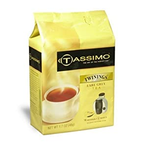 Twinings Earl Grey Tea, T-Discs for Tassimo Coffeemakers, 16-Count 1.7-Ounce Packages (Pack of 3) from twinings
