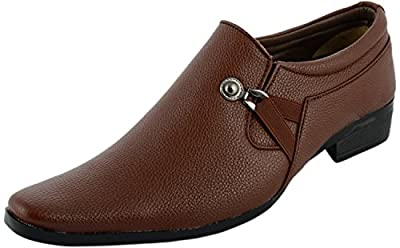 Alestino Men's Tan Formal Shoes