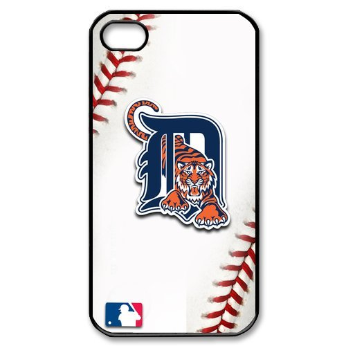 MLB Detroit Tigers iPhone 4 4S Protective Case Cover Custom Personalized Fashion Team Logo White Back Covers at Big-dream at Amazon.com