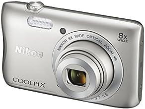 """Nikon Coolpix S3700 Appareil photo numérique compact 20,1 Mpix Écran LCD 2,7"""" Zoom optique 8X Argent"""