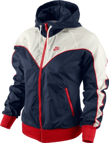 Nike Damen Sportswear Women's Track & Field 1979 Archive Windrunner, blue / white / red, XL, 524049-410-XL