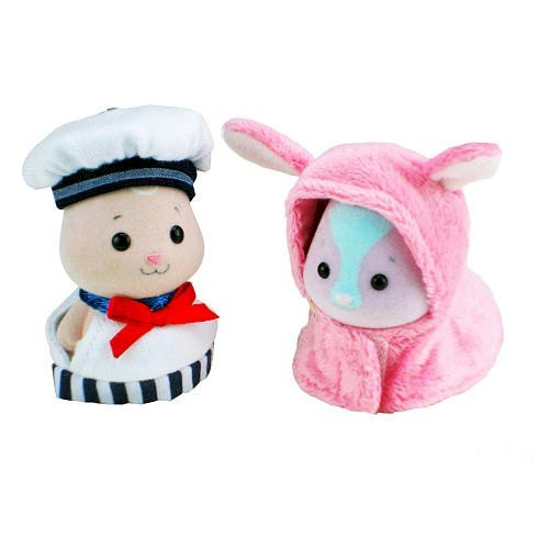 Zhu Zhu Babies Adorable Baby Outfits 2Pack Sailor Pink Bunny - 1