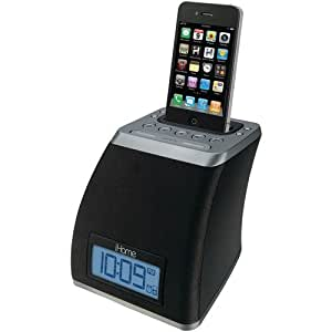iHome iP21GVC Space Saver Application-Friendly Alarm Clock for iPod and iPhone, Gunmetal
