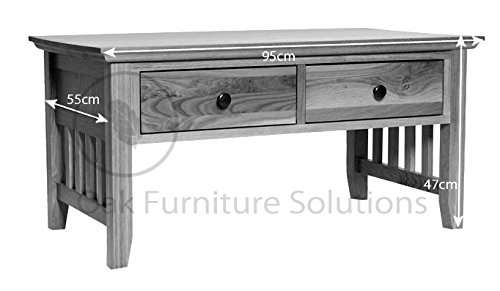 Hereford Rustic Oak Coffee Table Coffee Tables Deals
