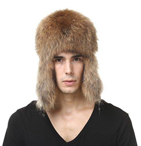 vogueearth-homme-reel-raton-laveur-fourrure-plus-chaud-flexible-ushanka-bombardier-chapeau-casquette