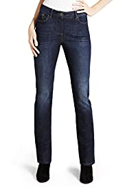 Petite Body Shape Denim Eva Straight Leg Jeans