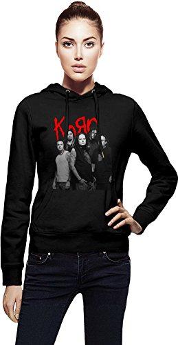Korn Band Cappuccio da donna Women Jacket with Hoodie Stylish Fashion Fit Custom Apparel By Genuine Fan Merchandise Medium