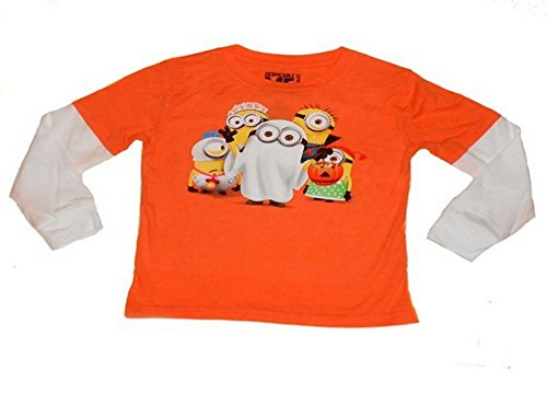 Despicable Me - Trick or Treat Halloween Minion Tee for Toddlers (12 Months) - Orange