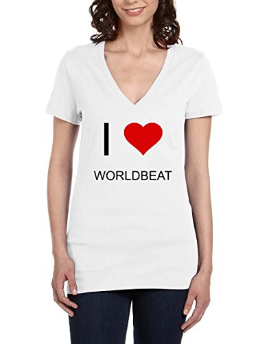 i-love-worldbeat-womens-v-neck-t-shirt