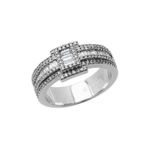 0.82 Carat 18kt White Gold Diamond Ring