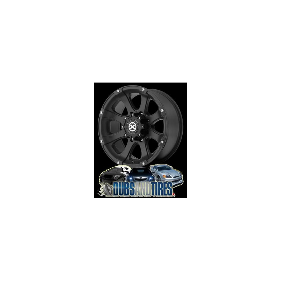 15 Inch 15x7 AMERICAN RACING ATX wheels LEDGE Teflon Black wheels rims