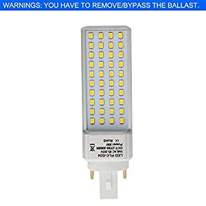 HERO-LED PLC Lamps G24Q 4-Pin Base LED CFL Light Replacement Bulb, Rotatable CFL LED Compact Fluorescent Tube Lamp, Universal G24Q Base for G24q-1, G24q-2 or G24q-3 bases. For Use in Recessed/Surface-mounted Downlights, Recessed Cans, Table/Desk Lamps, Po
