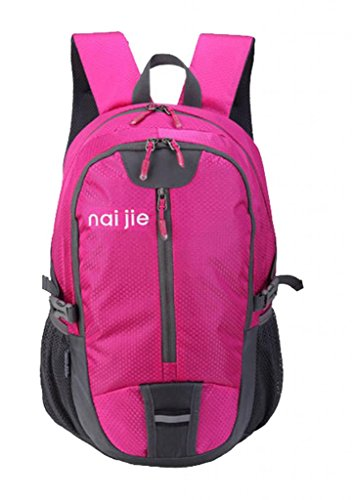 Zerd Casual Outdoor Waterproof Hiking Backpack Daypack 30L Rose Red front-727844