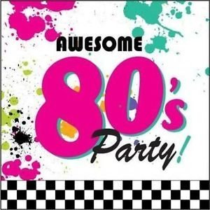 Awesome Eighties Luncheon Napkins Pack of 18