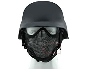 YTM(TM)2 in 1 Protection steel Face Mask+Airsoft Paintball Swat Helmet Set from ytm