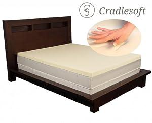 6] Cradlesoft 3 Inch 4 lb Ultra Premium Memory Foam Topper Twin
