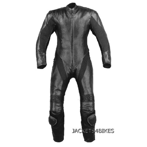1PC WOMENS MOTORCYCLE LEATHER RACING 1PC SUIT BLACK S