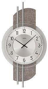 AMS Reloj de pared, madera/latón/vidrio/metal de AMS