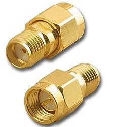 RF coaxial coax adapter SMA male to SMA female
