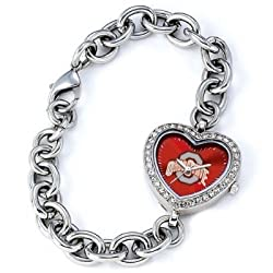 Ohio State Buckeyes Gametime Heart Bracelet/Watch