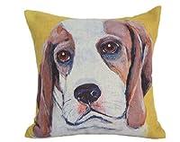 "Createforlife Home Decorative Cotton Linen Square Vintage Yellow Bird Birdcage Pillow Case Cushion Cover 18"" by Hugwarm"